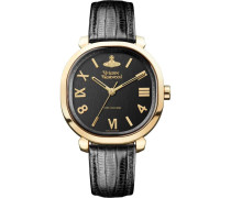 Mayfair Quarzuhr gold/schwarz