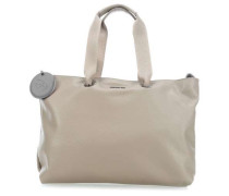 Mellow Leather Shopper taupe