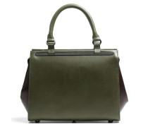 Madame Chic Fleur Handtasche grün/braun