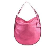 Calf Shimmer Beuteltasche metallic pink