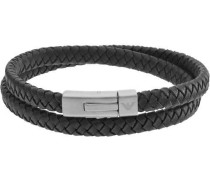Signature Armband silber/schwarz