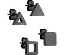 Set Ohrringe schwarz