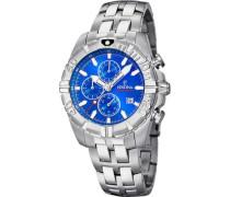 Sport Chronograph silber/blau