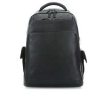 Black Square Laptop-Rucksack 15″ schwarz