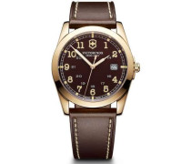 Infantry Swiss Army Quarzuhr braun/gold