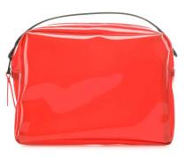 Transparent Box Umhängetasche rot