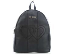 Double Heart Rucksack schwarz