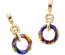 Fashion Colour Rings Ohrringe gold