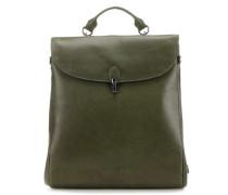 Madame Chic Claudette Rucksack-Tasche 15″ grün