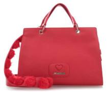 Lovely Pom Pom Handtasche rot
