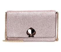 Nicola Shimmer Twistlock Clutch metallic pink