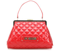 New Shiny Quilted Handtasche rot