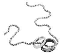 Halskette schwarz/silber