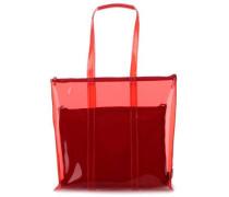 Transparent 2tlg Shopper 12″ rot