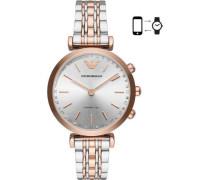 Hybrid-Smartwatch silber/roségold