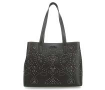Studs Embroidery Handtasche 23″ schwarz