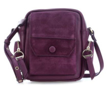 Casual Pocket Schultertasche pflaume