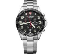 FieldForce Swiss Army Chronograph silber/schwarz