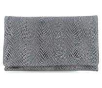 Nappa Cobra Clutch schwarz/silber