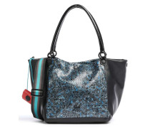 Black Viola M Handtasche schwarz/blau