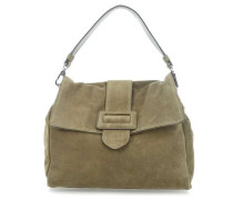Suede Cashmere Handtasche olivgrün
