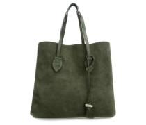 Celene Suede Shopper olivgrün