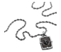 Halskette silber/schwarz