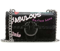 Mini Love Fabulous Schultertasche schwarz