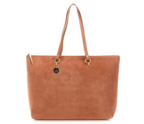 Alpha Suede Shopper tan