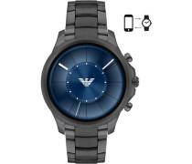 Smartwatch schwarz/blau