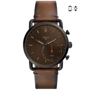 Q Commuter Hybrid-Smartwatch grau/braun