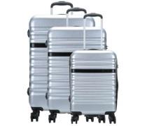 Corium 4-Rollen Trolley Set silber