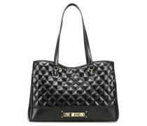 New Shiny Quilted Handtasche schwarz