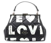 Love Is All Over Handtasche schwarz/beige