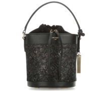 Mosaic Bucket bag schwarz