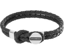 Signature Armband schwarz/silber