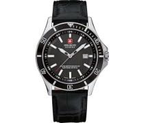 Swiss Military Hanow Flagship Schweizer Uhr silber