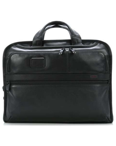 Alpha Business Leather Aktentasche 17″ schwarz