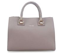 Manhattan Handtasche grau/braun