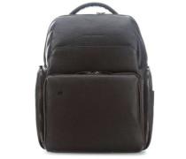 Black Square Laptop-Rucksack 14″ dunkelbraun