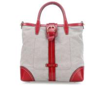 Handtasche rot/grau