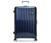 Riccione 4-Rollen Trolley blau cm