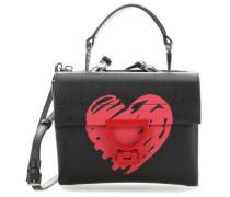 Arlettis San Valentino Schultertasche schwarz
