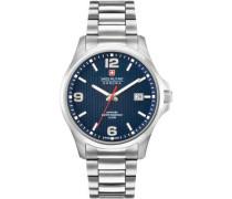 Swiss Military Hanow Observer Schweizer Uhr silber