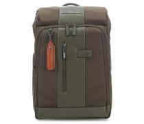 Brief Laptop-Rucksack 14″ grün
