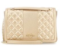 Metallic Superquilted Schultertasche gold