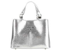 Handtasche silber metallic
