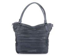 Riffelherzchen Handtasche dunkelblau