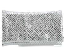 Maiorca Clutch silber metallic