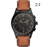 Q Activist Hybrid-Smartwatch schwarz/braun
